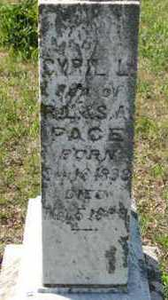 PACE, CYRIL L (CLOSE UP) - Pottawatomie County, Kansas | CYRIL L (CLOSE UP) PACE - Kansas Gravestone Photos