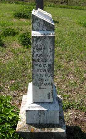 PACE, CYRIL L - Pottawatomie County, Kansas | CYRIL L PACE - Kansas Gravestone Photos