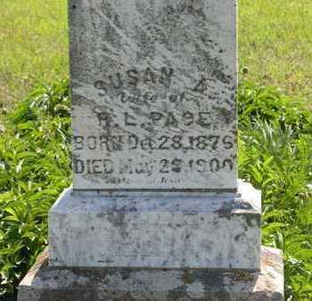 PACE, SUSAN A (CLOSE UP) - Pottawatomie County, Kansas | SUSAN A (CLOSE UP) PACE - Kansas Gravestone Photos