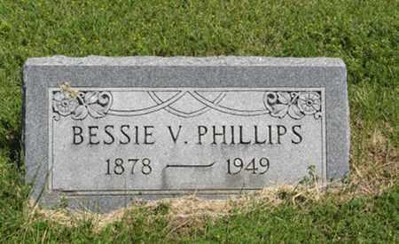 PHILLIPS, BESSIE V - Pottawatomie County, Kansas | BESSIE V PHILLIPS - Kansas Gravestone Photos