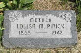 PINICK, LOUISA M - Pottawatomie County, Kansas | LOUISA M PINICK - Kansas Gravestone Photos