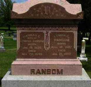 RANSOM, LYMAN G - Pottawatomie County, Kansas | LYMAN G RANSOM - Kansas Gravestone Photos