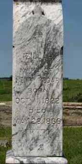 REGAR, IZILLAH (CLOSE UP) - Pottawatomie County, Kansas | IZILLAH (CLOSE UP) REGAR - Kansas Gravestone Photos