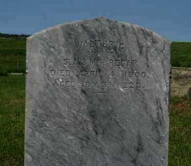 REGAR, WALTER G (CLOSE UP) - Pottawatomie County, Kansas   WALTER G (CLOSE UP) REGAR - Kansas Gravestone Photos