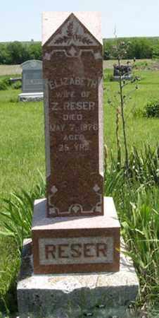 RESER, ELIZABETH - Pottawatomie County, Kansas | ELIZABETH RESER - Kansas Gravestone Photos
