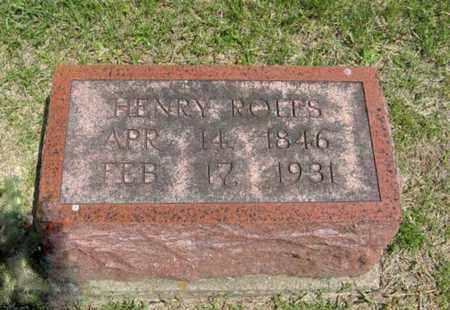 ROLFS, HENRY - Pottawatomie County, Kansas   HENRY ROLFS - Kansas Gravestone Photos