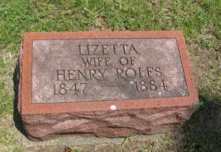ROLFS, LIZETTA - Pottawatomie County, Kansas   LIZETTA ROLFS - Kansas Gravestone Photos