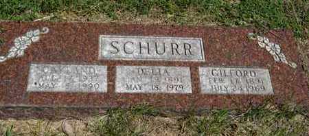 SCHURR, DELIA - Pottawatomie County, Kansas | DELIA SCHURR - Kansas Gravestone Photos