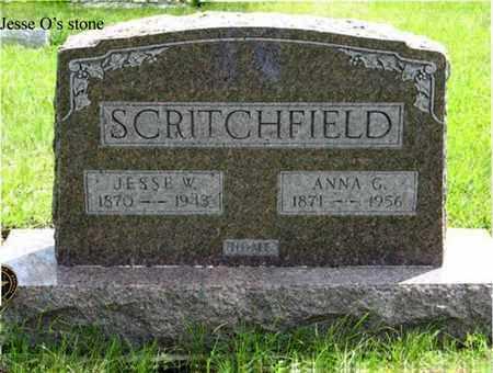 SCRITCHFIELD, JESSE W - Pottawatomie County, Kansas | JESSE W SCRITCHFIELD - Kansas Gravestone Photos