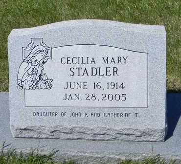 STADLER, CECILIA MARY - Pottawatomie County, Kansas | CECILIA MARY STADLER - Kansas Gravestone Photos