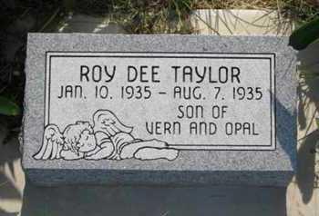 TAYLOR, ROY DEE - Pottawatomie County, Kansas | ROY DEE TAYLOR - Kansas Gravestone Photos