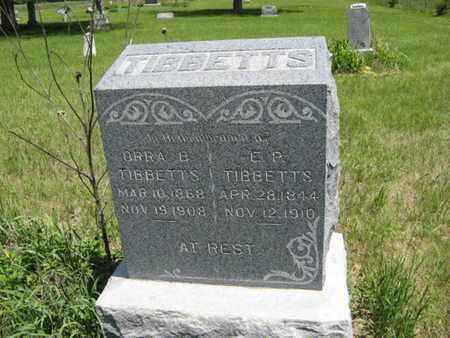 TIBBETTS, ORRA B - Pottawatomie County, Kansas | ORRA B TIBBETTS - Kansas Gravestone Photos