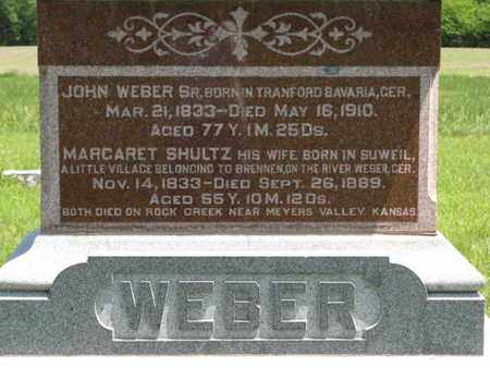 WEBER, MARGARET - Pottawatomie County, Kansas | MARGARET WEBER - Kansas Gravestone Photos