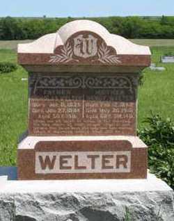 WELTER, NANCY - Pottawatomie County, Kansas | NANCY WELTER - Kansas Gravestone Photos