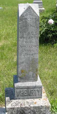 WHEARTY, INFANT DAUGHTER - Pottawatomie County, Kansas | INFANT DAUGHTER WHEARTY - Kansas Gravestone Photos