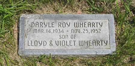 WHEARTY, DARYLE ROY - Pottawatomie County, Kansas | DARYLE ROY WHEARTY - Kansas Gravestone Photos