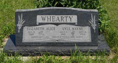 WHEARTY, LYLE WAYNE - Pottawatomie County, Kansas | LYLE WAYNE WHEARTY - Kansas Gravestone Photos