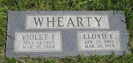 WHEARTY, LLOYD E - Pottawatomie County, Kansas | LLOYD E WHEARTY - Kansas Gravestone Photos