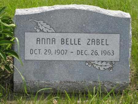 ZABEL, ANNA BELLE - Pottawatomie County, Kansas | ANNA BELLE ZABEL - Kansas Gravestone Photos
