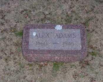 ADAMS, ALEX - Pratt County, Kansas   ALEX ADAMS - Kansas Gravestone Photos