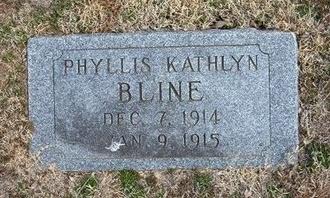 BLINE, PHYLLIS KATHLYN - Pratt County, Kansas | PHYLLIS KATHLYN BLINE - Kansas Gravestone Photos