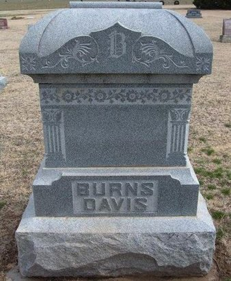 BURNS - DAVIS, FAMILY STONE - Pratt County, Kansas | FAMILY STONE BURNS - DAVIS - Kansas Gravestone Photos