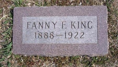 KING, FANNY F - Pratt County, Kansas | FANNY F KING - Kansas Gravestone Photos