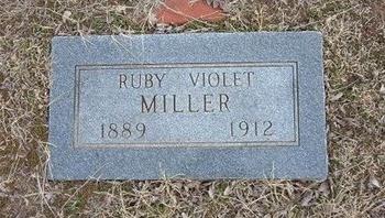 MILLER, RUBY VIOLET - Pratt County, Kansas | RUBY VIOLET MILLER - Kansas Gravestone Photos