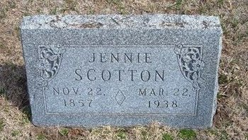 SCOTTON, JENNIE S - Pratt County, Kansas | JENNIE S SCOTTON - Kansas Gravestone Photos