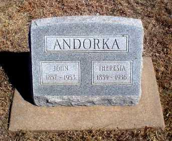ANDORKA, THERESIA - Rawlins County, Kansas | THERESIA ANDORKA - Kansas Gravestone Photos