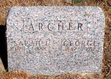 ARCHER, SARAH J - Rawlins County, Kansas | SARAH J ARCHER - Kansas Gravestone Photos