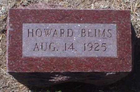 BEIMS, HOWARD - Rawlins County, Kansas | HOWARD BEIMS - Kansas Gravestone Photos