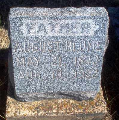 BLUME, AUGUST - Rawlins County, Kansas   AUGUST BLUME - Kansas Gravestone Photos