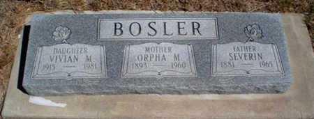 BOSLER, ORPHA MURIEL - Rawlins County, Kansas | ORPHA MURIEL BOSLER - Kansas Gravestone Photos
