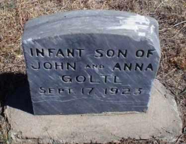 GOLTL, INFANT SON - Rawlins County, Kansas   INFANT SON GOLTL - Kansas Gravestone Photos