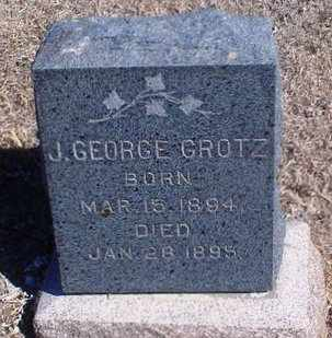 GROTZ, J GEORGE - Rawlins County, Kansas | J GEORGE GROTZ - Kansas Gravestone Photos