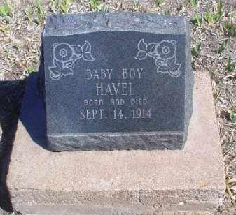 HAVEL, INFANT SON - Rawlins County, Kansas   INFANT SON HAVEL - Kansas Gravestone Photos