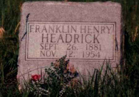 HEADRICK, FRANKLIN HENRY - Rawlins County, Kansas   FRANKLIN HENRY HEADRICK - Kansas Gravestone Photos