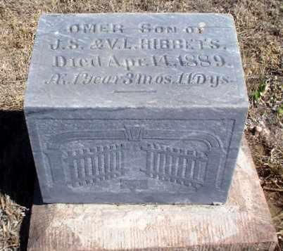 HIBBETS, OMER - Rawlins County, Kansas | OMER HIBBETS - Kansas Gravestone Photos