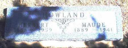 HOWLAND, MAUDE - Rawlins County, Kansas | MAUDE HOWLAND - Kansas Gravestone Photos