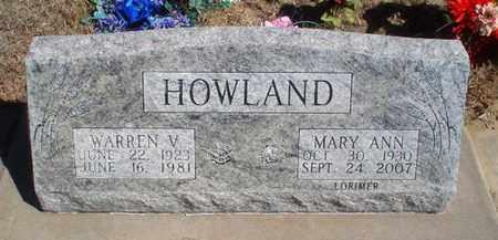 HOWLAND, WARREN V - Rawlins County, Kansas   WARREN V HOWLAND - Kansas Gravestone Photos