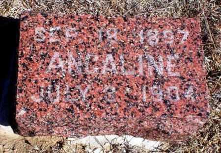 MCINTOSH, ANGALINE - Rawlins County, Kansas   ANGALINE MCINTOSH - Kansas Gravestone Photos