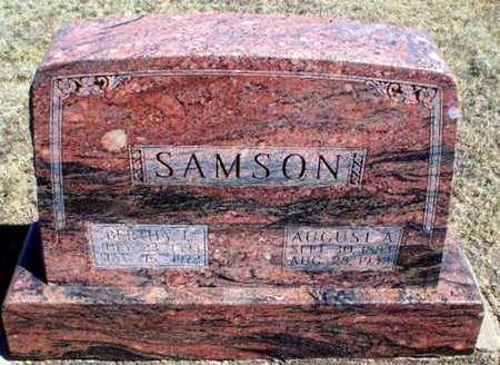 SAMSON, AUGUST ALFRED - Rawlins County, Kansas | AUGUST ALFRED SAMSON - Kansas Gravestone Photos