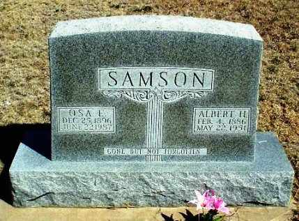SAMSON, ALBERT HENRY - Rawlins County, Kansas | ALBERT HENRY SAMSON - Kansas Gravestone Photos