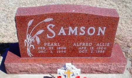 "SAMSON, ALFRED  HENRY""ALLIE"" - Rawlins County, Kansas | ALFRED  HENRY""ALLIE"" SAMSON - Kansas Gravestone Photos"