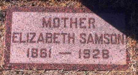SAMSON, SARAH ELIZABETH - Rawlins County, Kansas   SARAH ELIZABETH SAMSON - Kansas Gravestone Photos