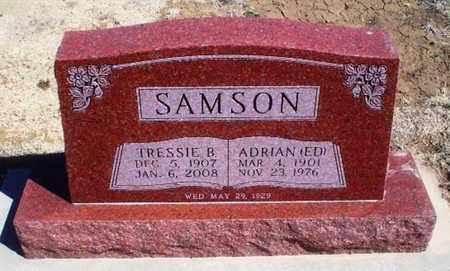 "SAMSON, ADRIAN ""ED"" - Rawlins County, Kansas | ADRIAN ""ED"" SAMSON - Kansas Gravestone Photos"