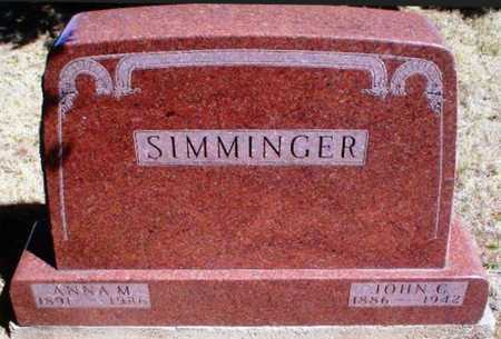 SIMMINGER, ANNA MARY CATHERINE - Rawlins County, Kansas | ANNA MARY CATHERINE SIMMINGER - Kansas Gravestone Photos