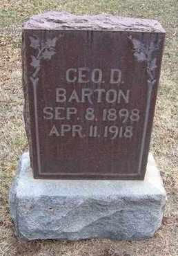 BARTON, GEORGE DEAN - Reno County, Kansas | GEORGE DEAN BARTON - Kansas Gravestone Photos