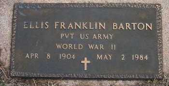 BARTON, ELLIS FRANKLIN  (VETERAN WWII) - Reno County, Kansas | ELLIS FRANKLIN  (VETERAN WWII) BARTON - Kansas Gravestone Photos